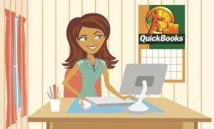 QwikBooks Girl Logo